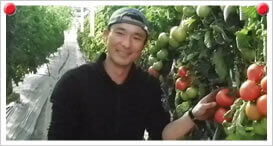 春トマト生産者 高柳 仁さん